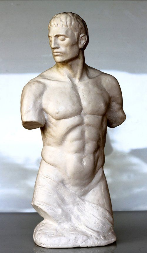 Rudolf Sokolovski Gladiator Cast Stone 24 inches