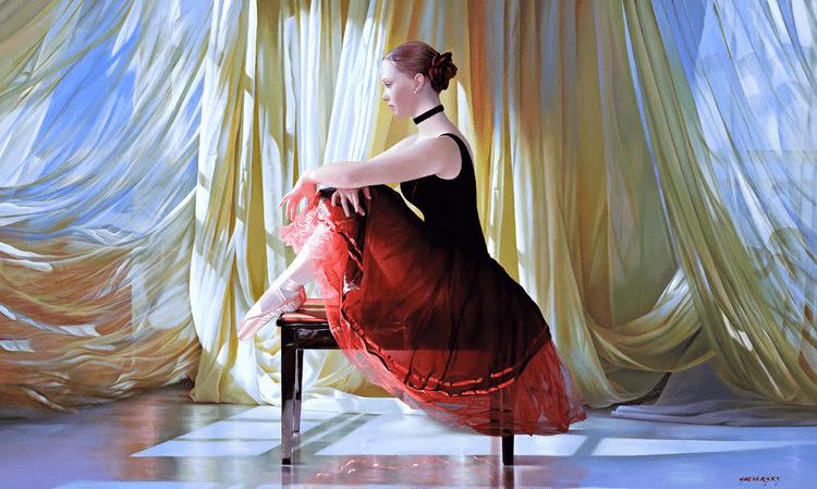 Alexander Sheversky-Ballerina Original Oil 36x60