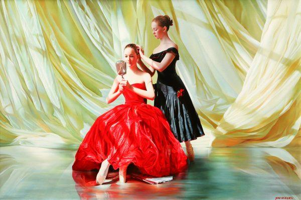Alexander Sheversky Rehearsal Original Oil Painting 40x60