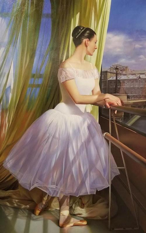 Alexander Sheversky The Dream Original Oil Painting 46x26