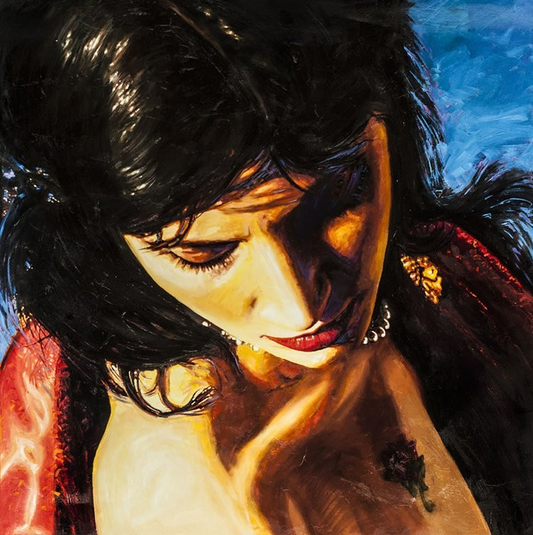 Alexander Sheversky Feeling Original Oil & Resin Painting 40X40