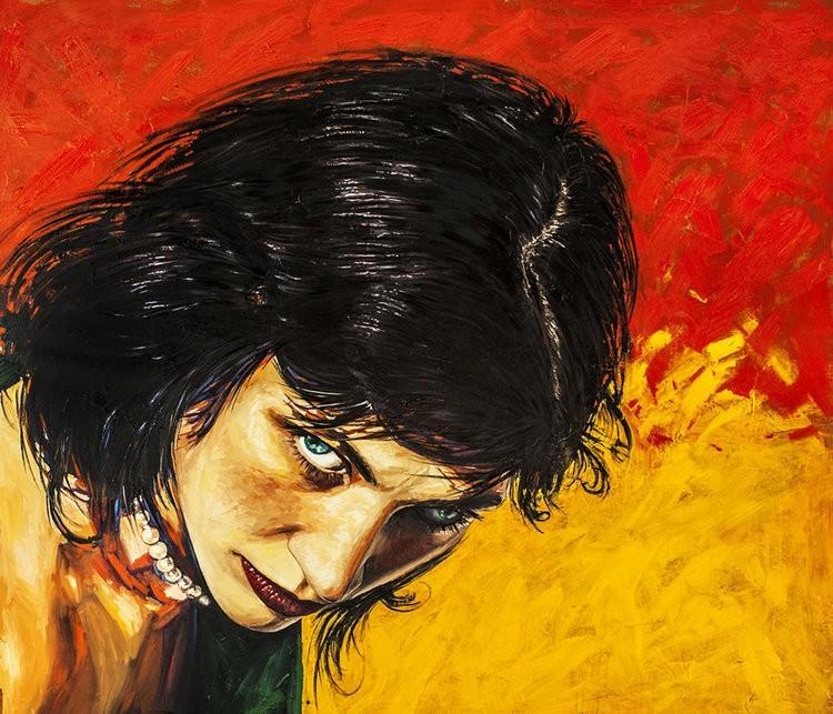 Alexander Sheversky Look at Me Original Oil Painting 40x48