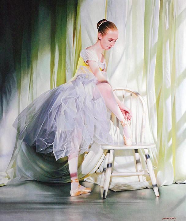 Alexander Sheversky White on White Original Oil Painting 48x40