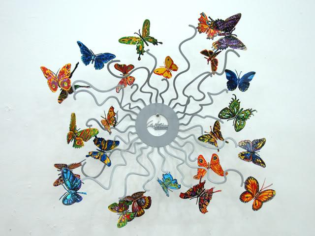David Gerstein Butterflies Forever Sculpture 39x39x19.5