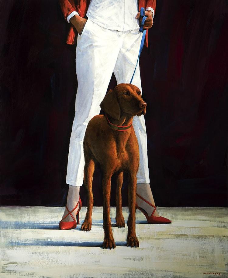 Alexander Sheversky Best Friend II Original Oil Painting 48x40