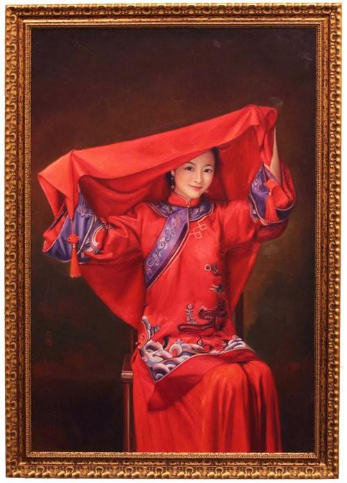 Cecilia Aisian-Gioro-Bride IIII -Original Oil Painting -47x31
