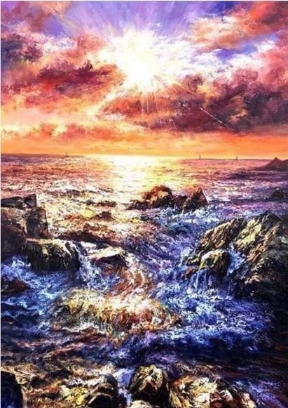 Cecilia Aisian-Gioro-FengShui 2 The Sunrise For Good Luck-54x38.5