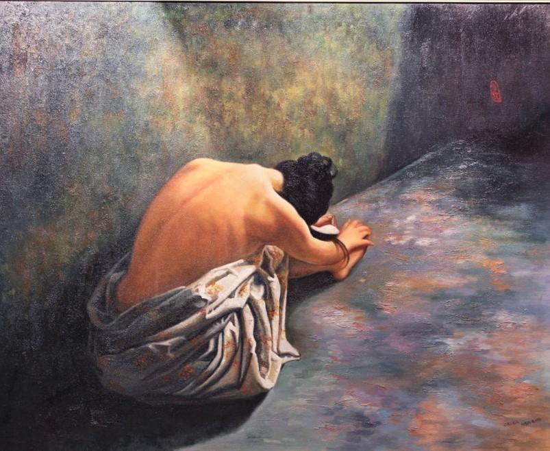 Cecilia Aisian-Gioro-That Summer Regret-Original Oil Painting 34x40