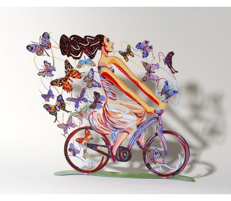 David-Gerstein Sculpture Rider in Euphoria 14.1x14.1 Inches