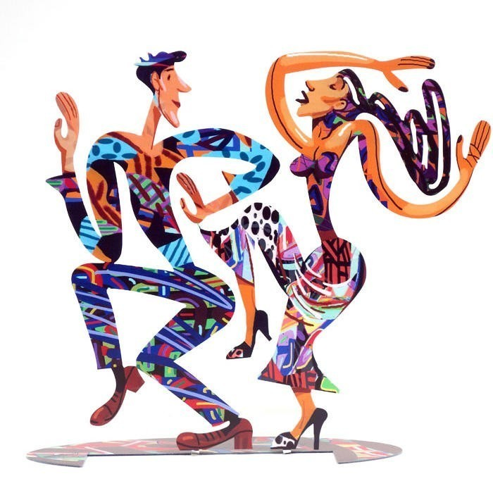 David Gerstein Signed Sculpture Dancers New large 14x16 Inches