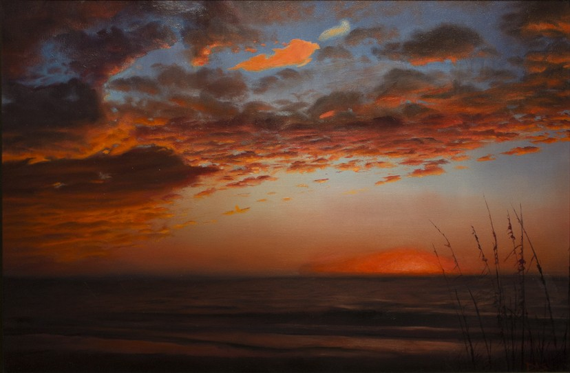 Barcelona Original Oil Painting 24x28 David Shepherd