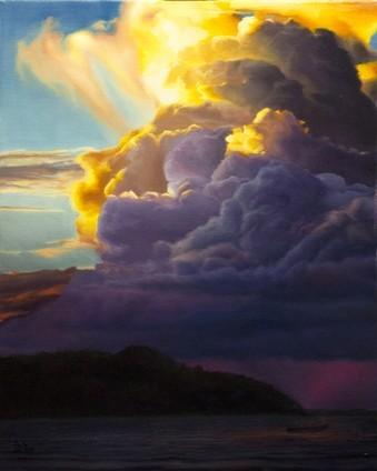 David Shepherd- Glow- Original Oil-24.5x20.5