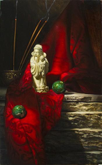 David Shepherd-Serenity- Original Oil Painting -18x12