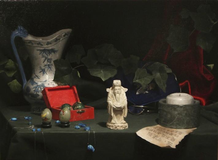David Shepherd-Tao-Original Oil Painting-21x25