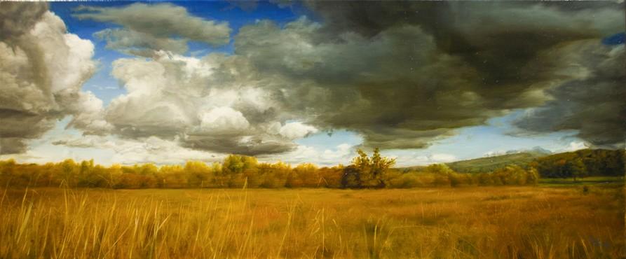 David Shepherd-Whisper-Original Oil -12.5x26