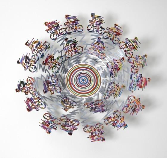 David Gerstein Bowl Cycle Big Sculpture 19 Inches