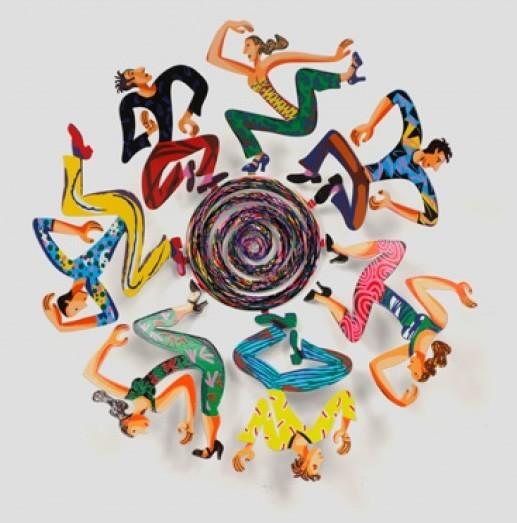 David Gerstein Bowl Disco Sculpture 18Inches