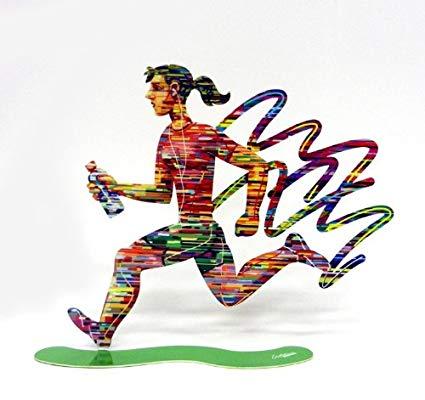 David Gerstein Sculpture Jog Woman Sculpture 12X11