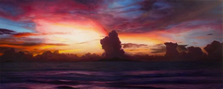 David Shepherd Infused Oil Painting 22X54