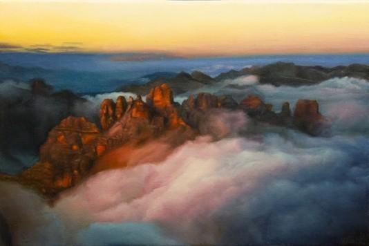 Contemporary Canadian Painter David Shepherd Rolling Oil.12X18