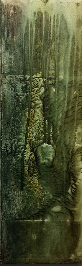 G Kim Hinkson Grotto Original Acrylic Painting 36x12