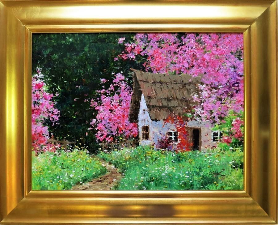 Gardener's+House.18X24.+Original+Oil