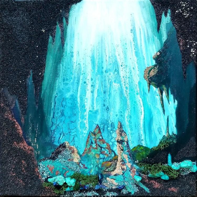 Holly Bromley-Serenity Original Acrylic Mixed Media & Resin 12x12