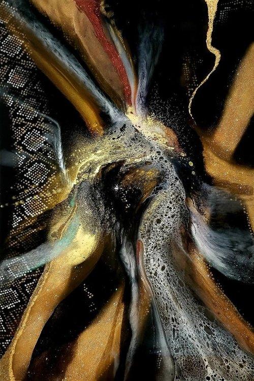 Holly Bromley Dragon Eye A.P Mixed Media 60x40