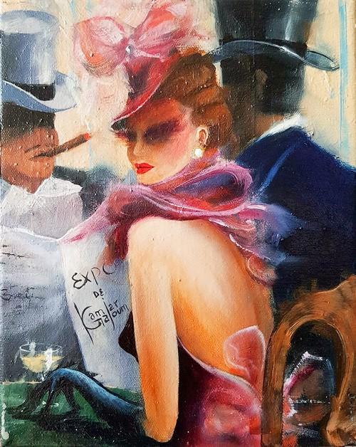 Kamiar Gajoum Ambiance Classique Original Oil Painting10x8