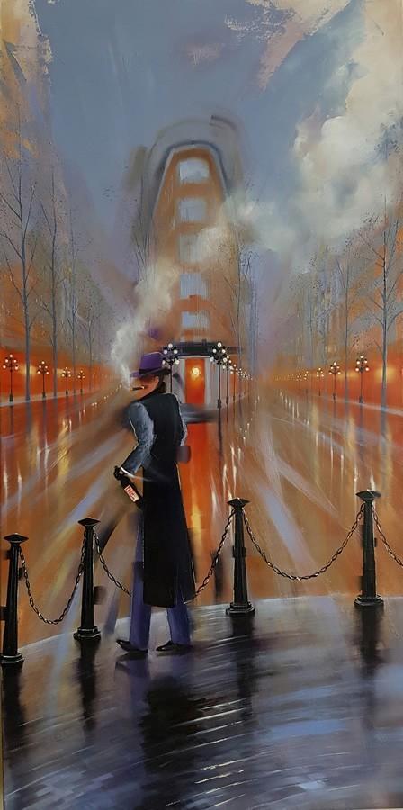 Kamiar Gajoum Gajou Original Oil Painting 48x24