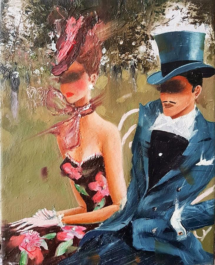 Kamiar Gajoum Le Parc Original Oil Painting 10x8