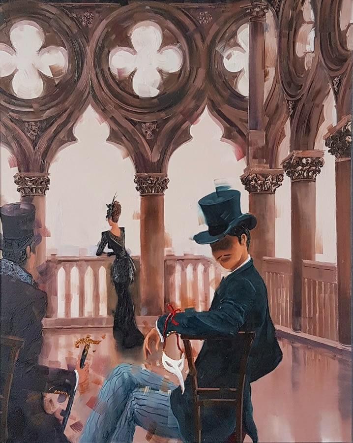 Kamiar Gajoum Perfect View II Original Oil Painting 20x16