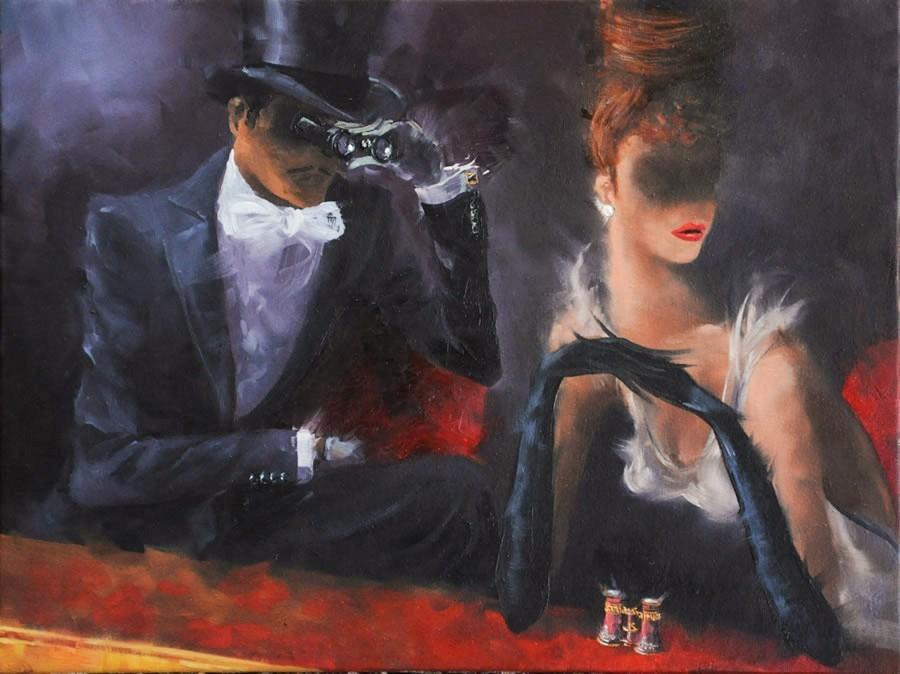Kamiar Gajoum Secret View Original Oil Painting 12X16