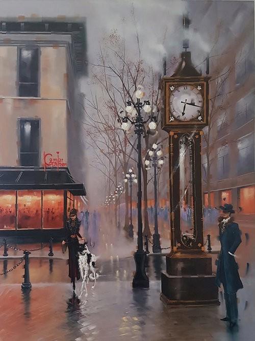 Kamiar+Gajoum Steam Clock Original Oil 36X48
