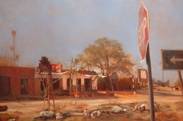 Liza Visagie Junction Original Oil 27x36
