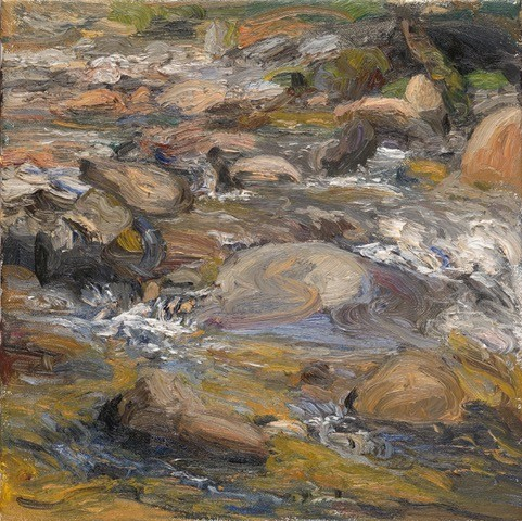 Liza Visagie Riverscape 3 Original Oil 10X10