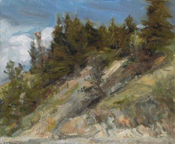 Rockface Original Oil Painting 9.5X11.5 Liza Visagie