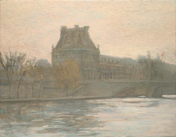 Paul+Chizik.+Along+the+Seine.+Original+Oil.+14X18
