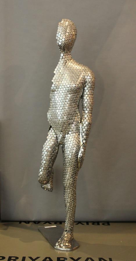 Priyaryan.+Half+Man.+Original+Sculpture.+48+Inches