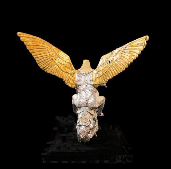 Contemporary Canadian Sculptor Priyaryan Eagle Bronze sculpture