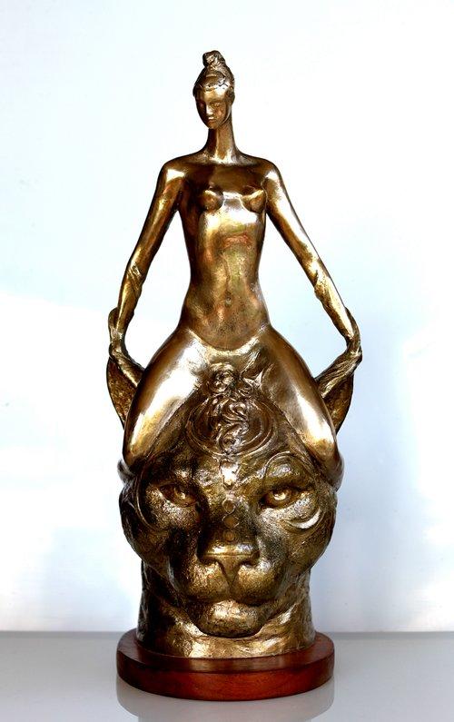 "Rudolf Sokolovski-Queen-Original Polished Bronze-22x13x10"""