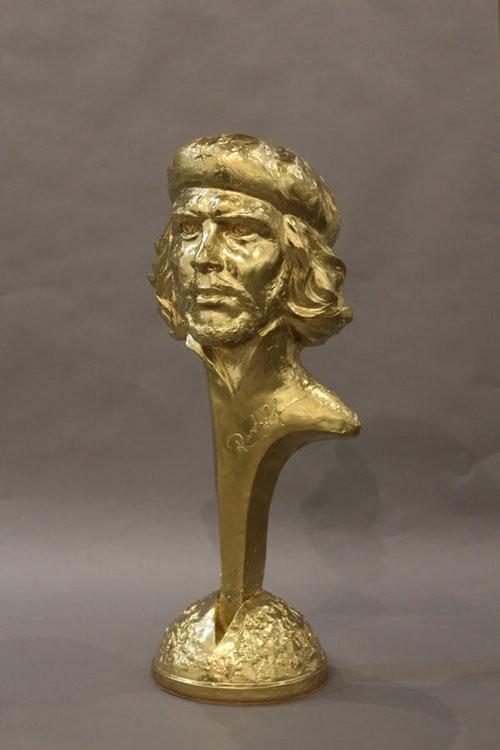"""Rudolf Sokolovski Che Cast Stone Sculpture 25"""""""