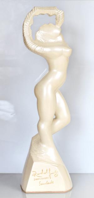 Saudade Yang- Pearl While- Fibergalss Resin 32 inches Artist Rudolf Sokolovski.