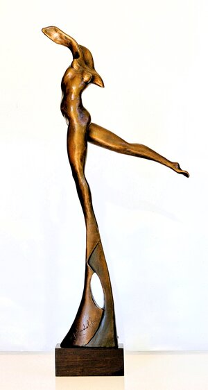 "Rudolf Sokolovski-Transcendence-Bronze With Brown Patina-24"""