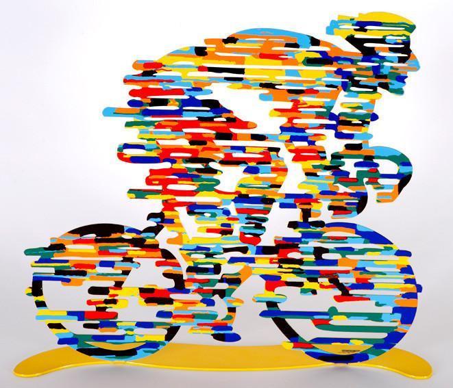 David Gerstein Armstrong Rider Sculpture 14x17 in