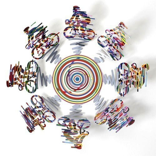 David Gerstein Bowl Cycle Sculpture 14 inches