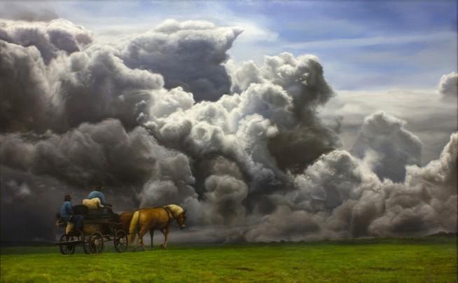 David Shepherd Conquer Original Oil on Canvas 30x46