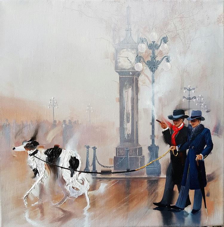 Contemporary Canadian Painter Kamiar Gajoum Steam And Fog Oil 12x12