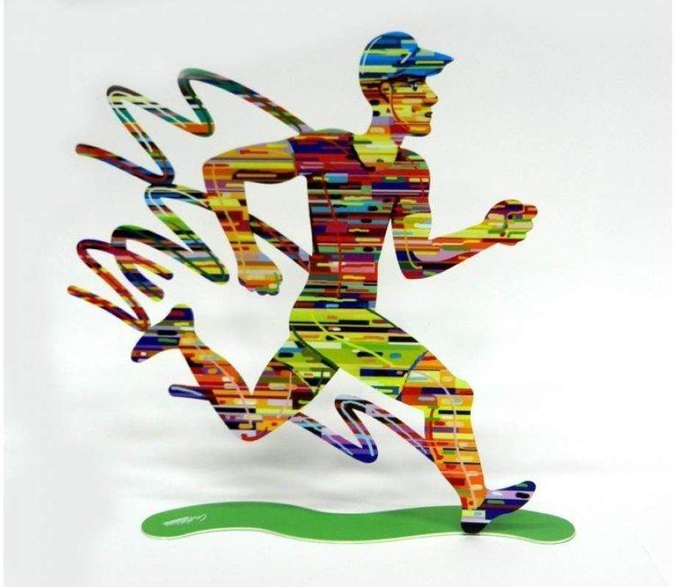 David Gerstein Jog Man Sculpture