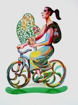 David Gerstein Ride Flower Go Sculpture 14x12